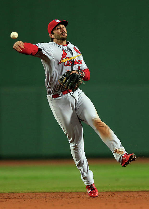 St. Louis Cardinals Art Print featuring the photograph Matt Carpenter by Jamie Squire
