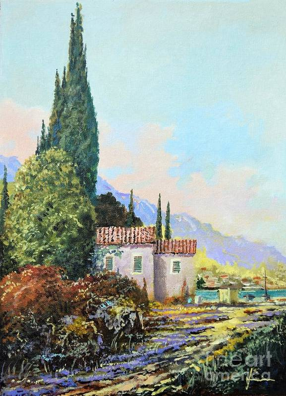 Original Painting Art Print featuring the painting Mediterraneo 2 by Sinisa Saratlic