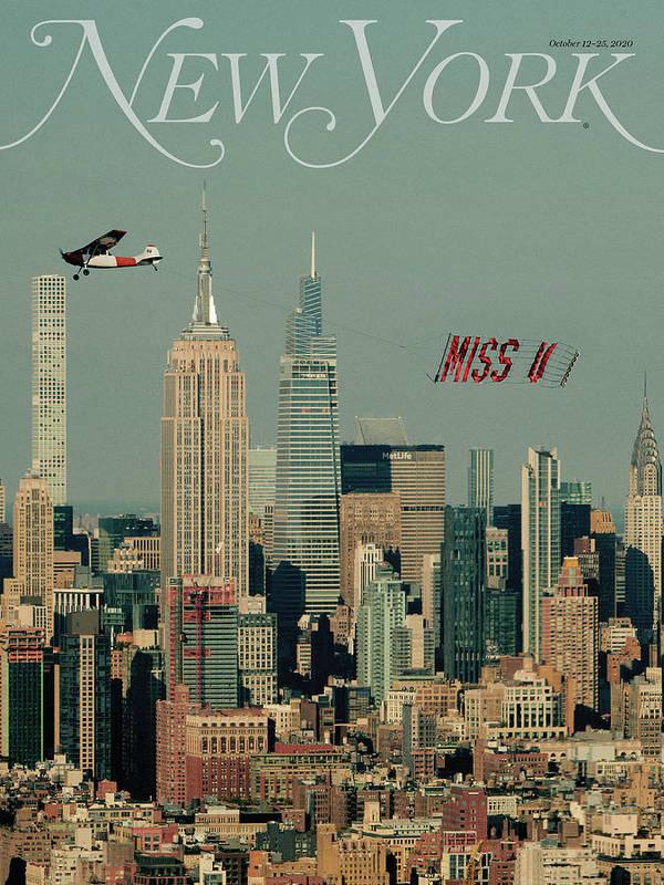 New York Magazine Art Print featuring the photograph Miss U by New York Magazine