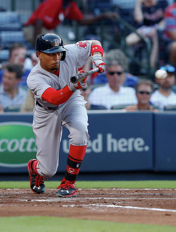 Atlanta Art Print featuring the photograph Mookie Betts by Mike Zarrilli