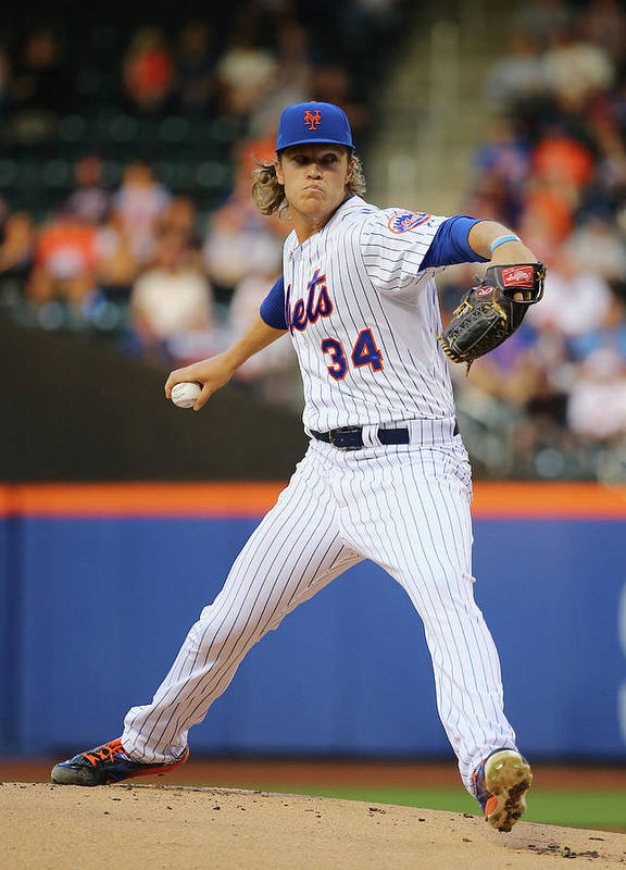 People Art Print featuring the photograph Noah Syndergaard by Al Bello