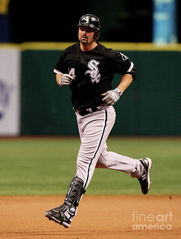 Playoffs Art Print featuring the photograph Paul Konerko by Doug Benc