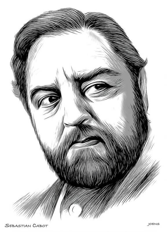 Sebastian Cabot Art Print featuring the digital art Sebastian Cabot by Greg Joens
