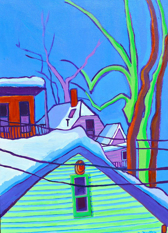 Buildings Art Print featuring the painting Sheffield Winter by Debra Bretton Robinson