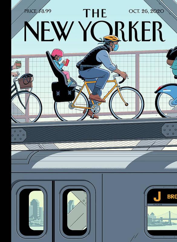 Nyc Art Print featuring the digital art Shifting Gears by R Kikuo Johnson
