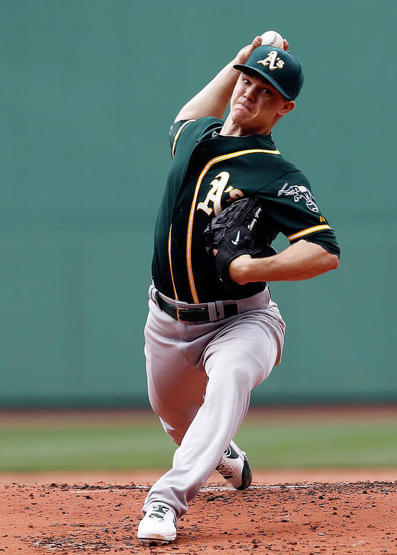 American League Baseball Art Print featuring the photograph Sonny Gray by Jim Rogash
