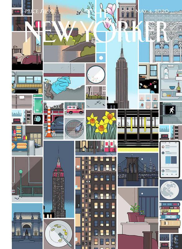City Art Print featuring the digital art Still Life by Chris Ware