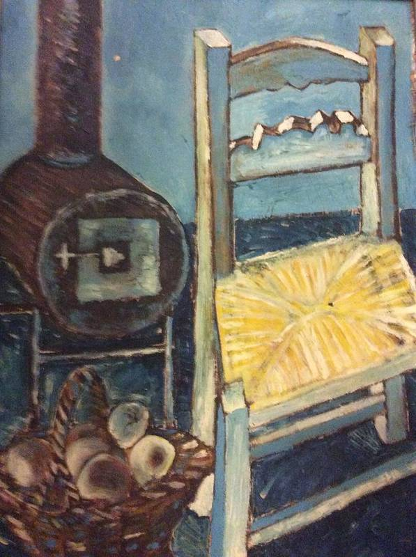 Interior Art Print featuring the painting Stove and chair by Biagio Civale