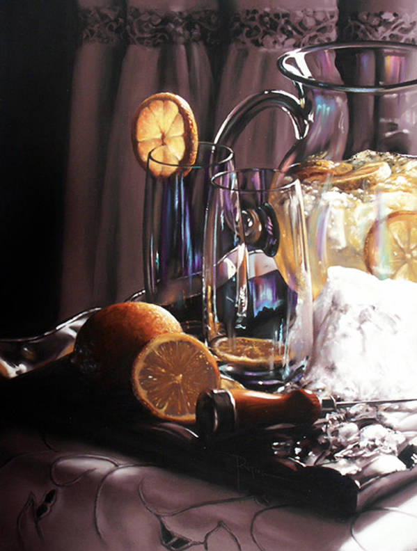 Lemons Art Print featuring the painting Sunkist by Dianna Ponting