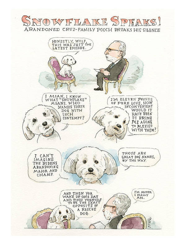 Ted Cruz's Dog Dishes Art Print featuring the painting Ted Cruz's Dog Dishes by Barry Blitt