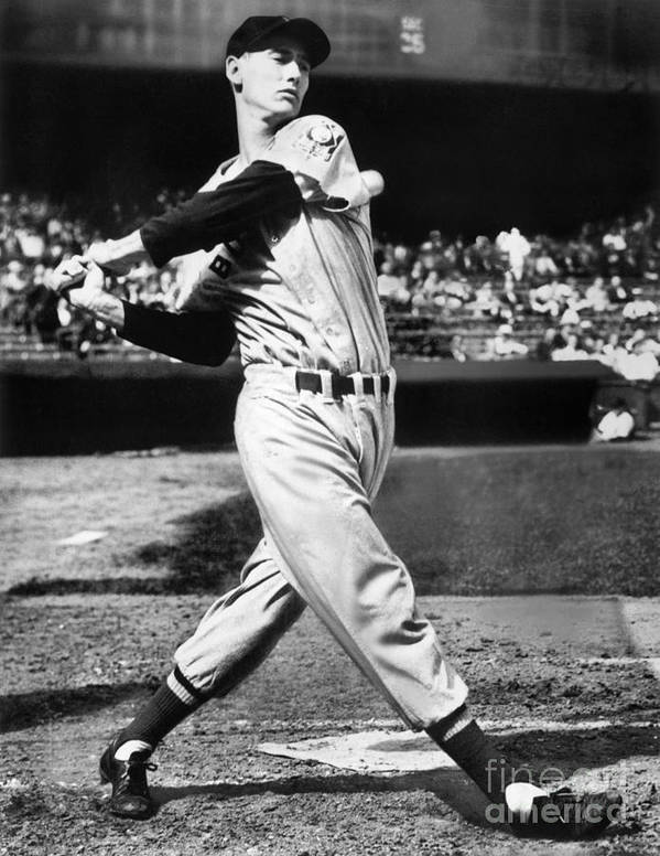 People Art Print featuring the photograph Ted Williams by National Baseball Hall Of Fame Library