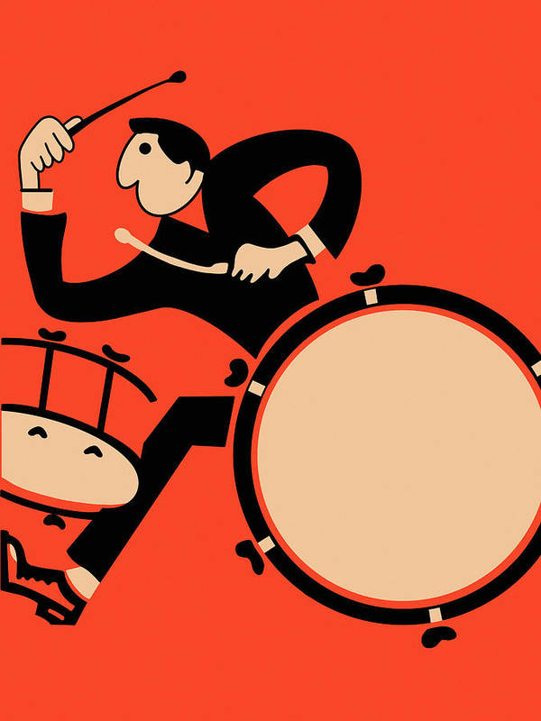 Drum Art Print featuring the photograph The Drummer by Mark Rogan
