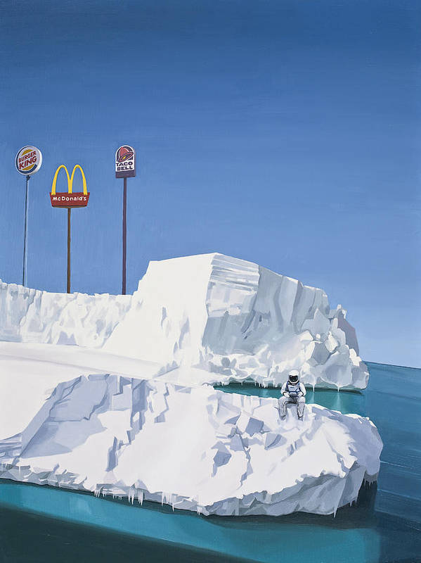 Astronaut Art Print featuring the painting The Iceberg by Scott Listfield