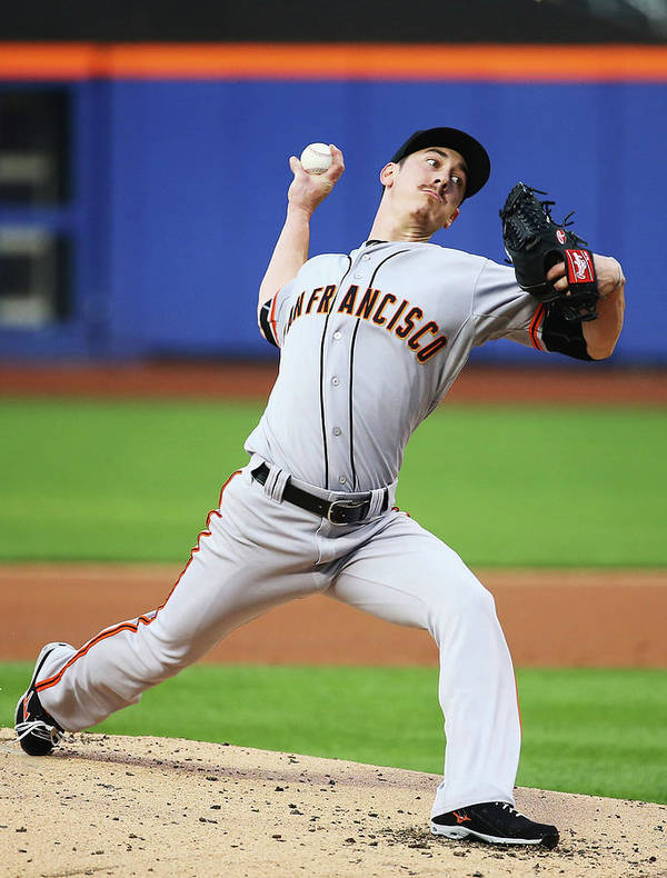 American League Baseball Art Print featuring the photograph Tim Lincecum by Al Bello