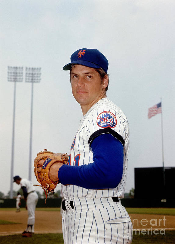 Tom Seaver Art Print featuring the photograph Tom York by Louis Requena