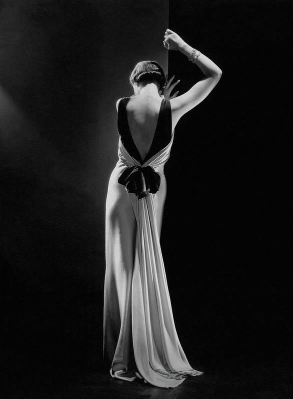 Fashion Art Print featuring the photograph Toto Koopman in Evening Dress by Augustabernard, Paris, 1933 by George Hoyningen-Huene
