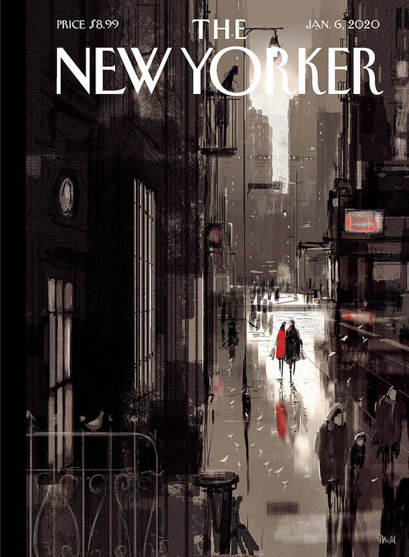 Twilight Avenue Art Print featuring the drawing Twilight Avenue by Pascal Campion