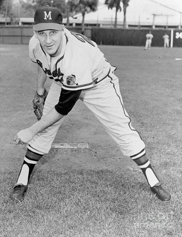 1950-1959 Art Print featuring the photograph Warren Spahn by National Baseball Hall Of Fame Library