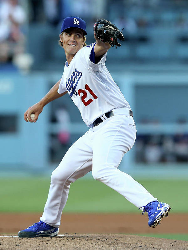 California Art Print featuring the photograph Zack Greinke by Stephen Dunn