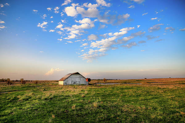Blue Sky Days - Barn Under Big Blue Sky in Oklahoma by Southern Plains Photography