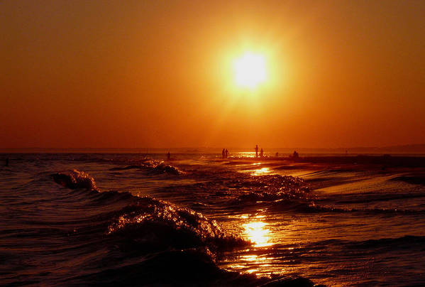Sunset Art Print featuring the photograph Extreme Blazing Sun by Kendall Eutemey