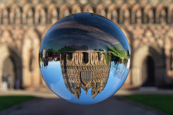 Lichfield Art Print featuring the photograph Lichfield lens ball by Steev Stamford