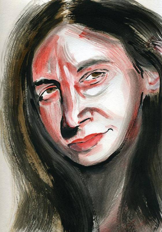Portrait Art Print featuring the painting Anat I by Gila Rayberg