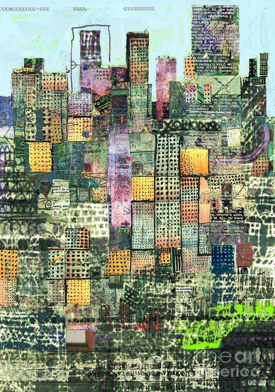 Urban Art Art Print featuring the digital art Green Metropolis by Andy Mercer
