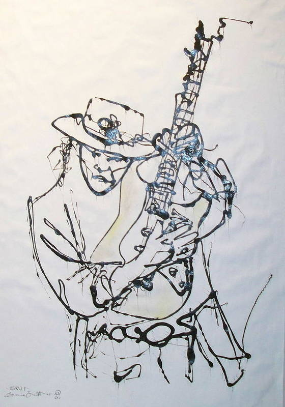 Abstract Art Print featuring the drawing Stevie by Ernie Scott- Dust Rising Studios