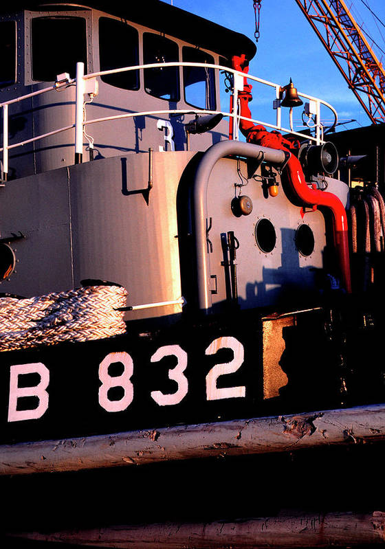 Us Naval Station Mayport Art Print featuring the photograph Tug Boat by Thomas R Fletcher