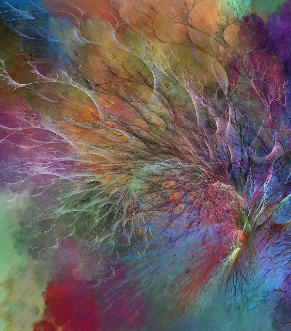 Fractal Art Print featuring the digital art Coral Depths by Betsy Knapp