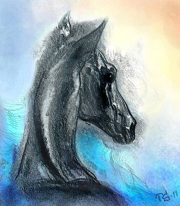 Horse Art Art Print featuring the painting Dream Of May by Tarja Stegars