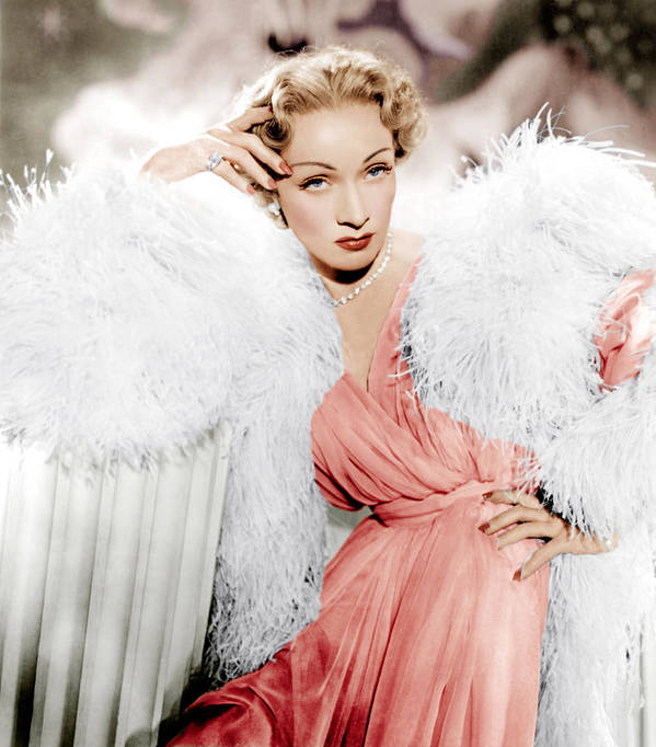 1950 Movies Art Print featuring the photograph Stage Fright, Marlene Dietrich Wearing by Everett