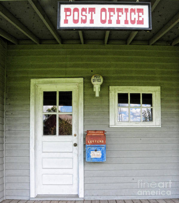 Paul Ward Art Print featuring the photograph The Post Office by Paul Ward