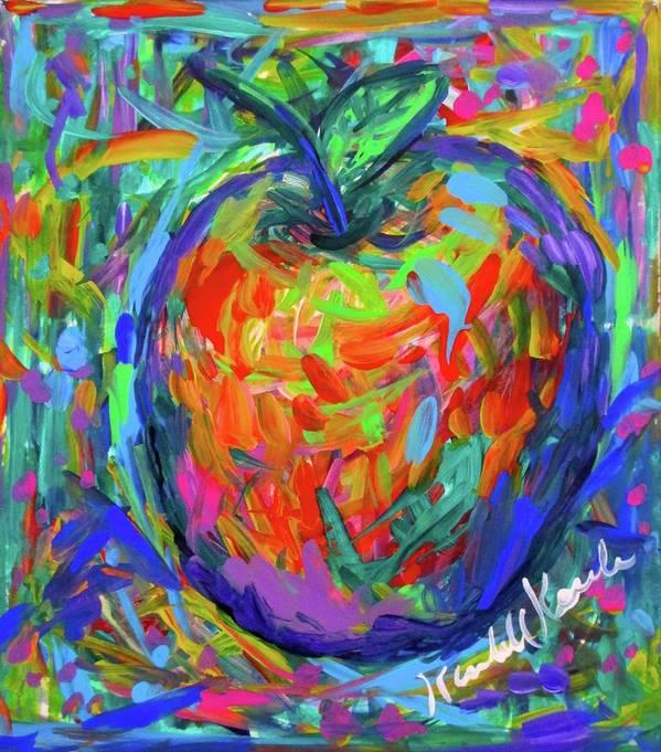 Apple Art Print featuring the painting Apple Splash by Kendall Kessler