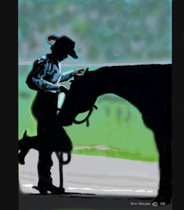 Horsemen Art Print featuring the painting Barn Time by Kim Souza