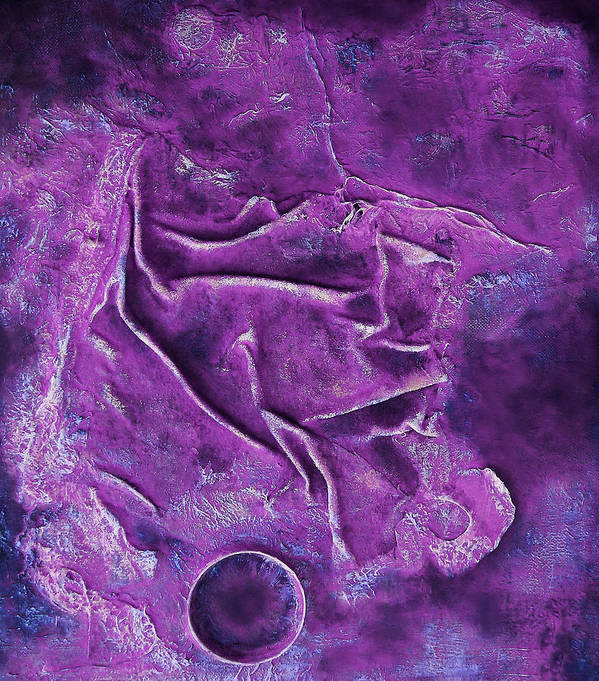 Abstract Art Print featuring the mixed media Movement In Purple by Angela Anelli