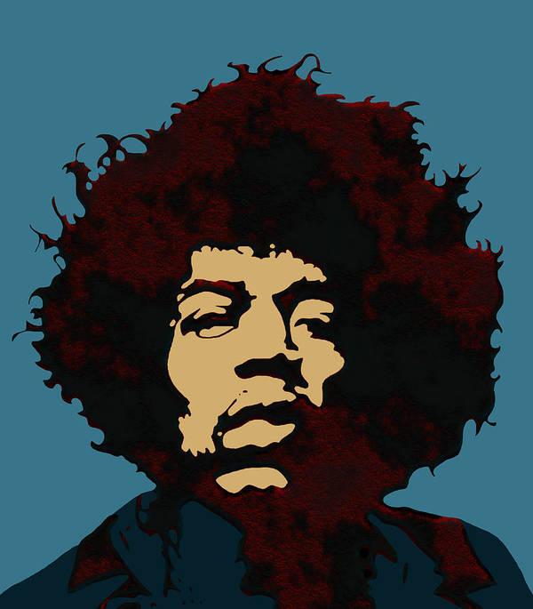 Pop Art Jimi Hendrix Art Print