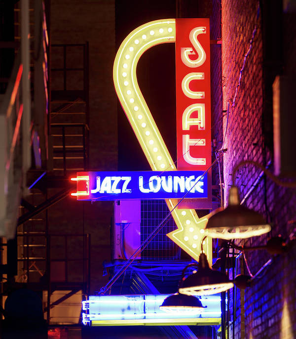 Scat Jazz Art Print featuring the photograph Scatt Jazz Lounge 030318 by Rospotte Photography