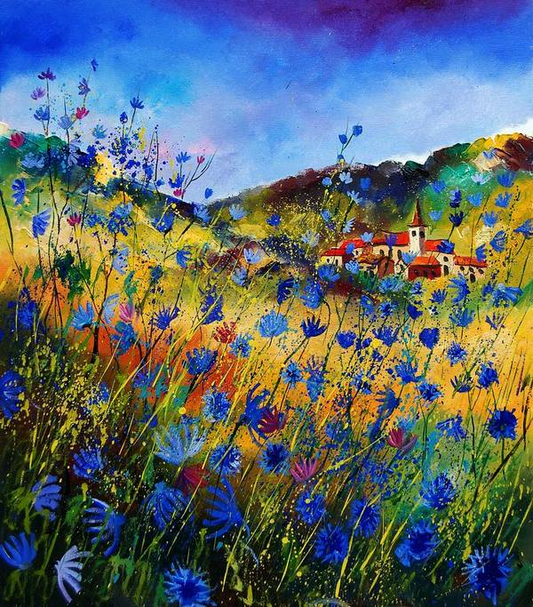 Flowers Art Print featuring the painting Summer Glory by Pol Ledent