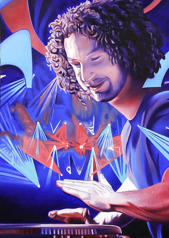 Andy Farag Art Print featuring the painting Andy Farag by Joshua Morton