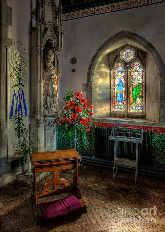 Aisle Art Print featuring the photograph Holy Ground by Adrian Evans