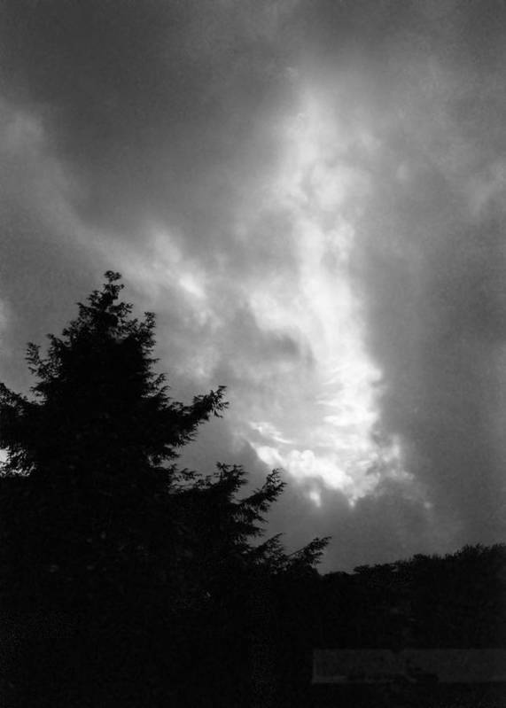 Sky Art Print featuring the photograph 072306-31bw by Mike Davis
