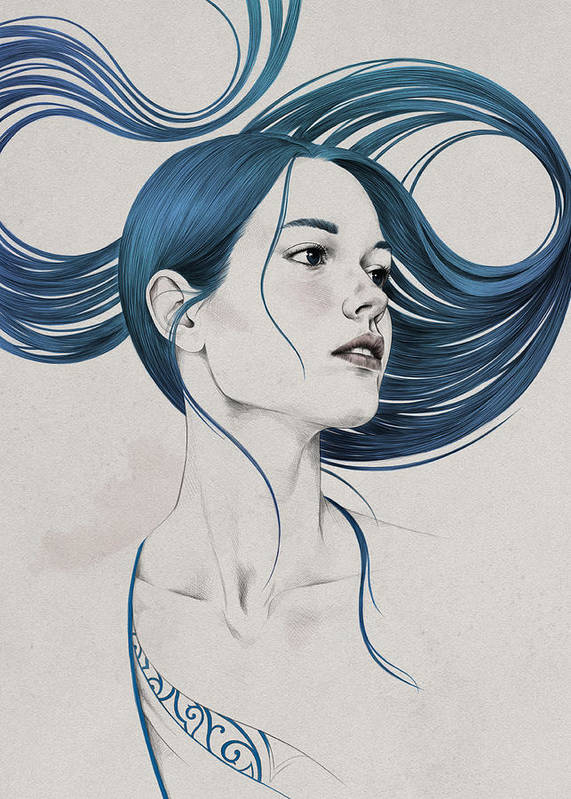 Woman Art Print featuring the digital art 361 by Diego Fernandez