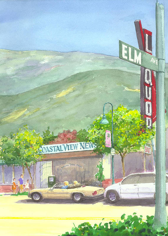 Coastal View Newspaper Olffice Art Print featuring the painting Coastal View by Ray Cole