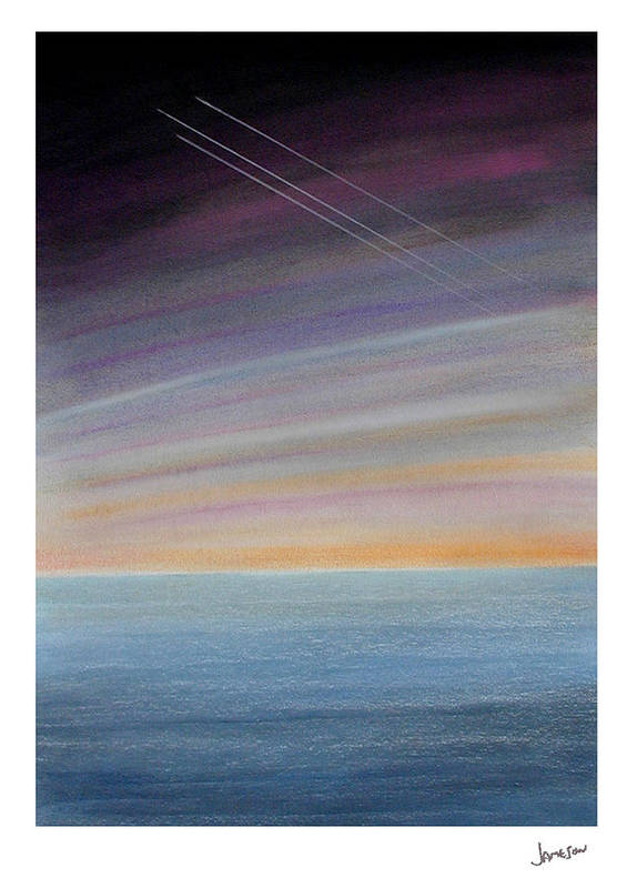 Water Art Print featuring the painting Fortitude Missing Man Formation by Gary Jameson