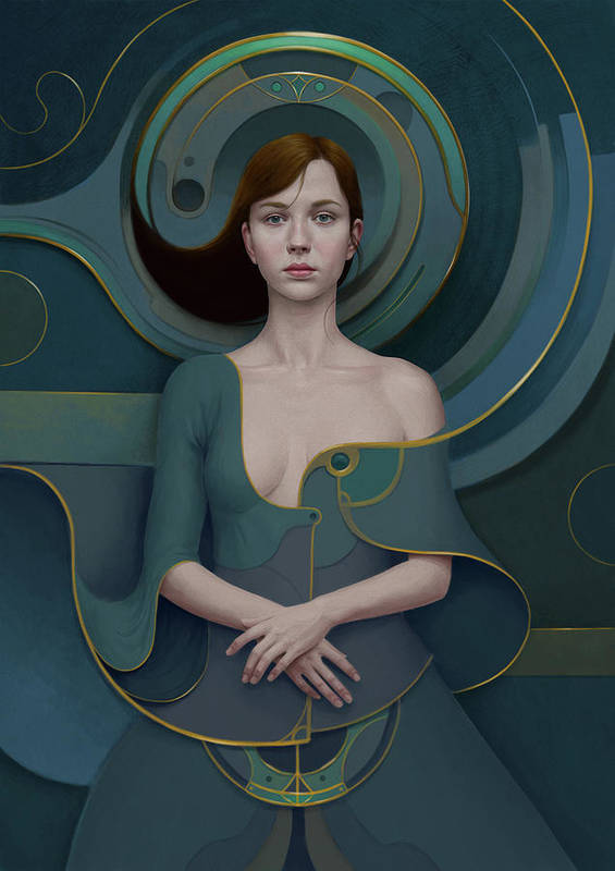 Woman Art Print featuring the painting 492 by Diego Fernandez