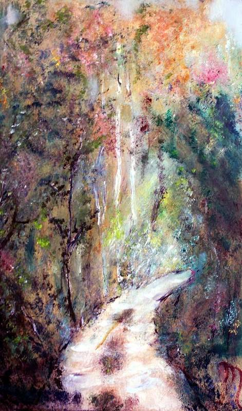 Landscape Art Print featuring the painting Sanctuary by Michela Akers