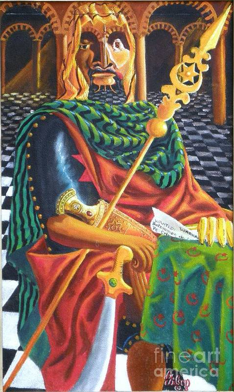 Still-life; Interior Art Print featuring the painting The Moorish General Othello by David G Wilson