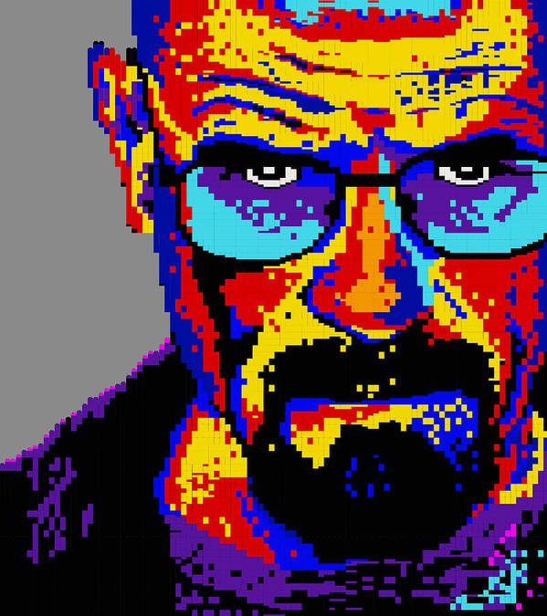 Walter Print featuring the digital art Lego Walter White by Marc Orphanos